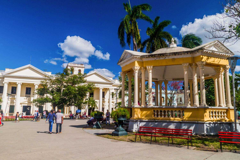 Jose Marti library Santa Clara Library View of Parque Vidal square in Santa Clara, Cuba