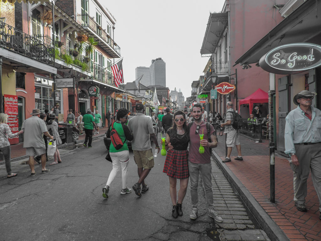 Hand grenade cocktails on the streets of New Orleans