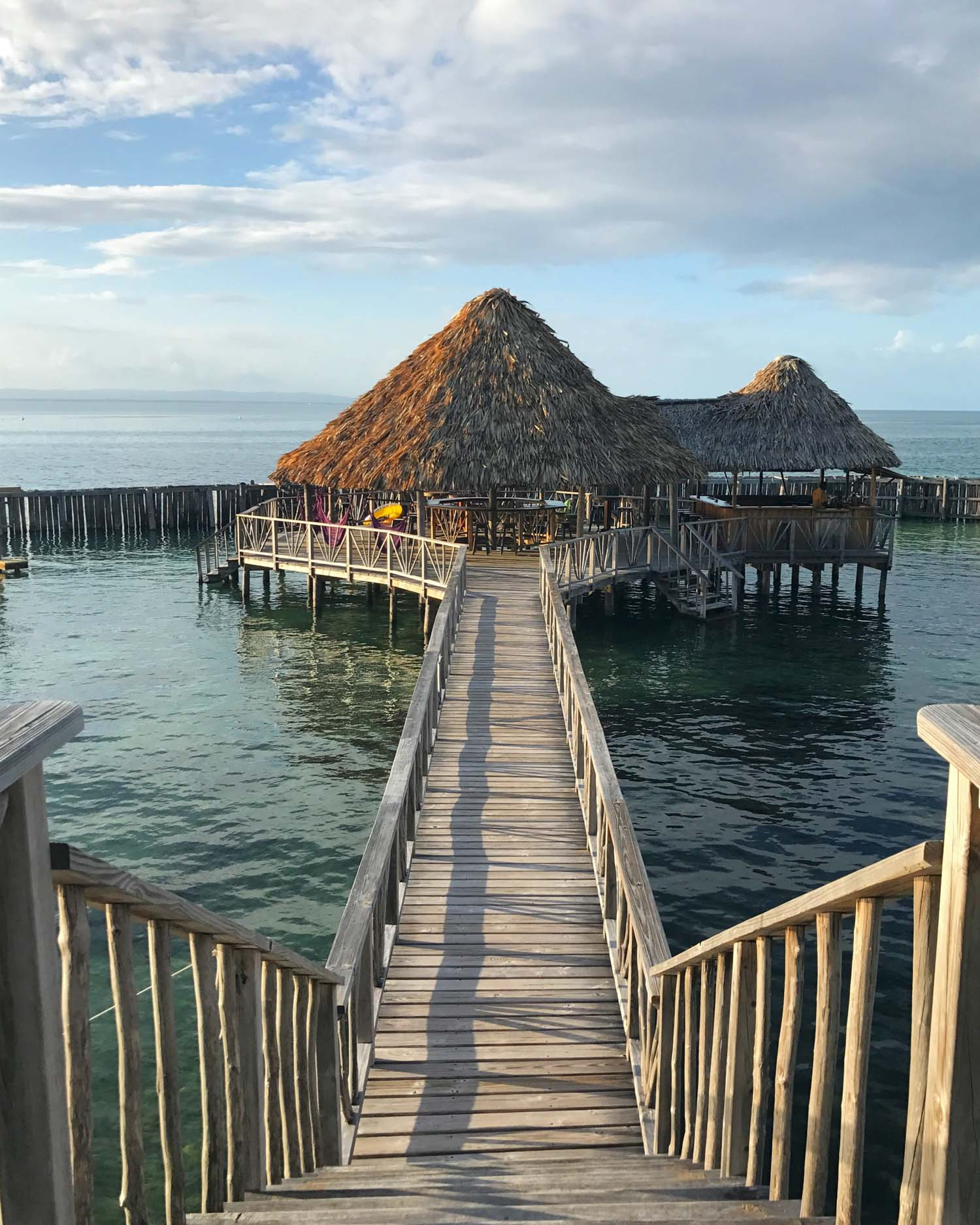 Restaurant in Belize on the water