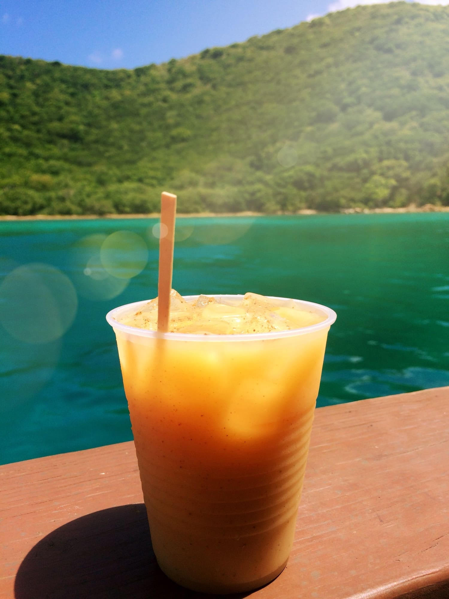 Painkiller cocktail from the British Virgin Islands