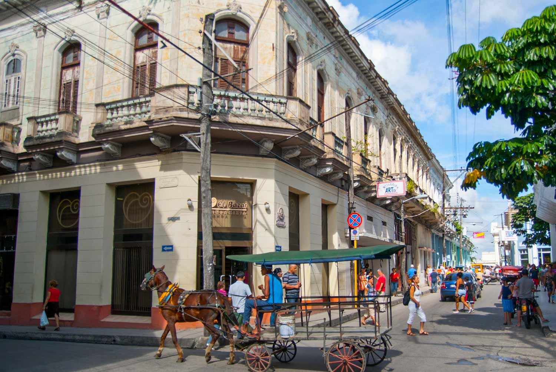 Horse cart in streets of Santa Clara, Cuba