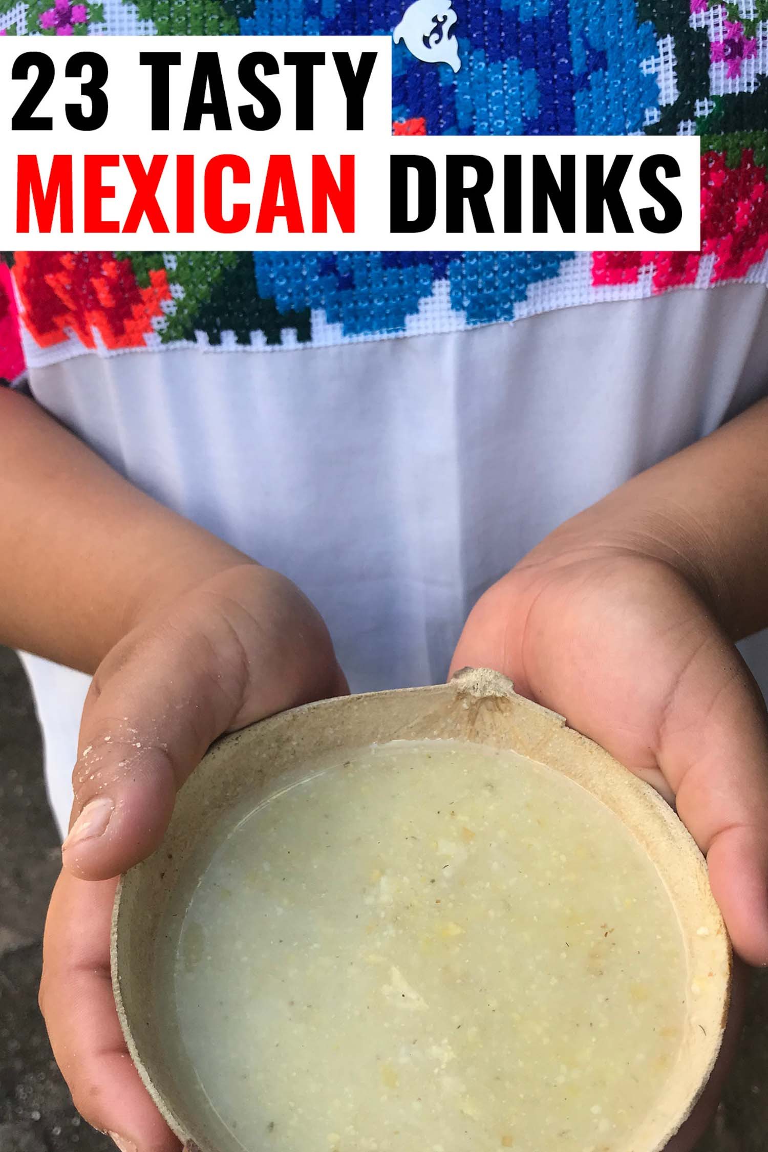 Traditional Mayan drink Atole a bowl