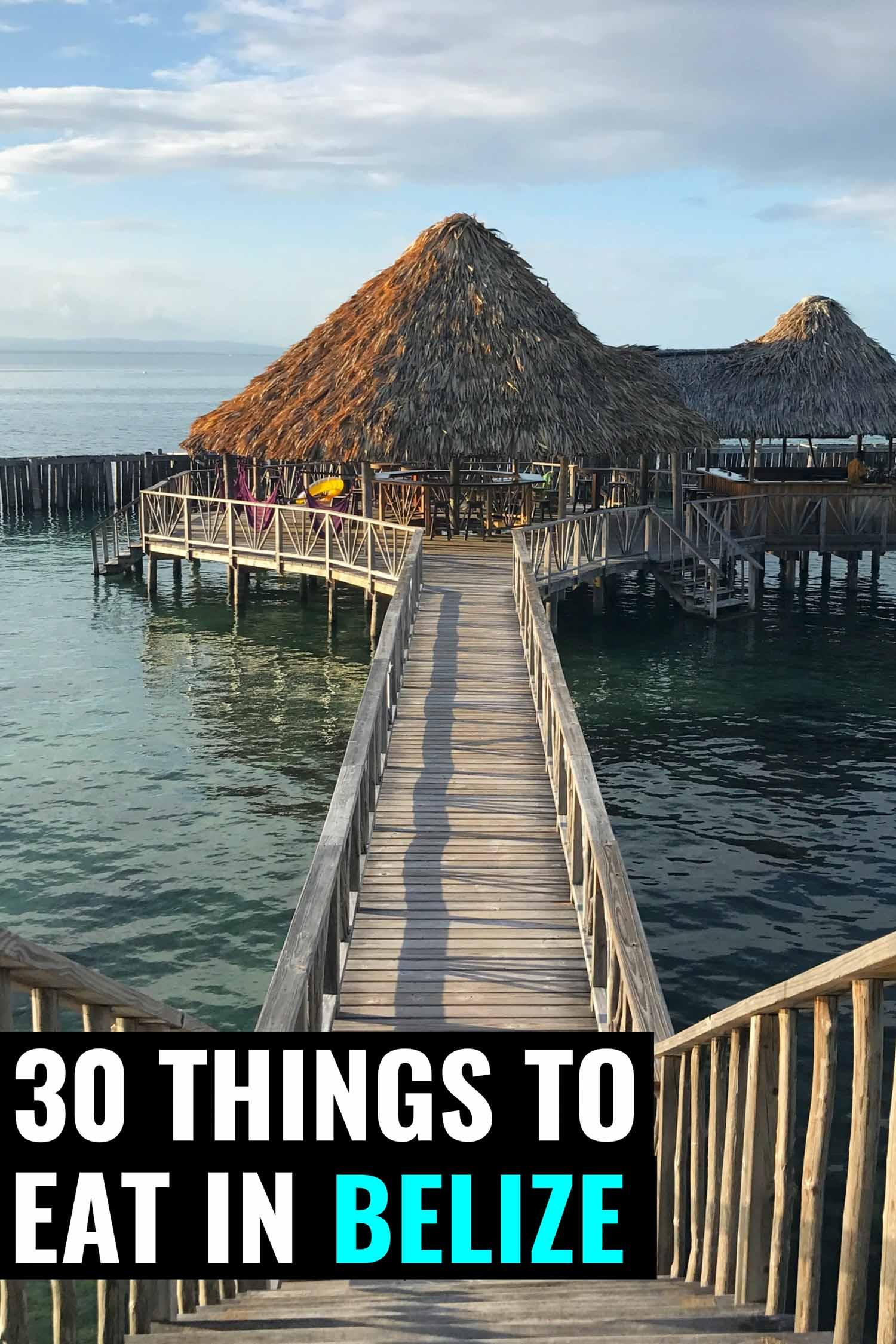 Restaurant on the ocean in Caye Caulker Belize