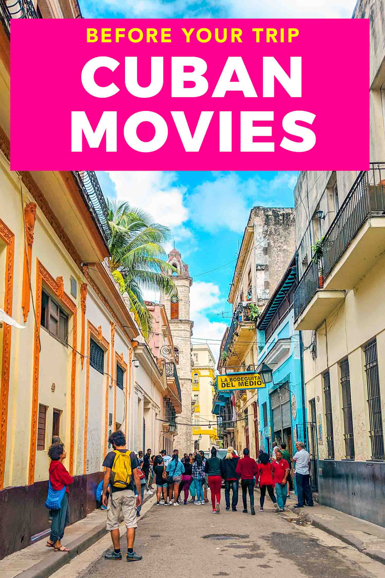 View of Old Havana streets with copy that reads inspire your trip