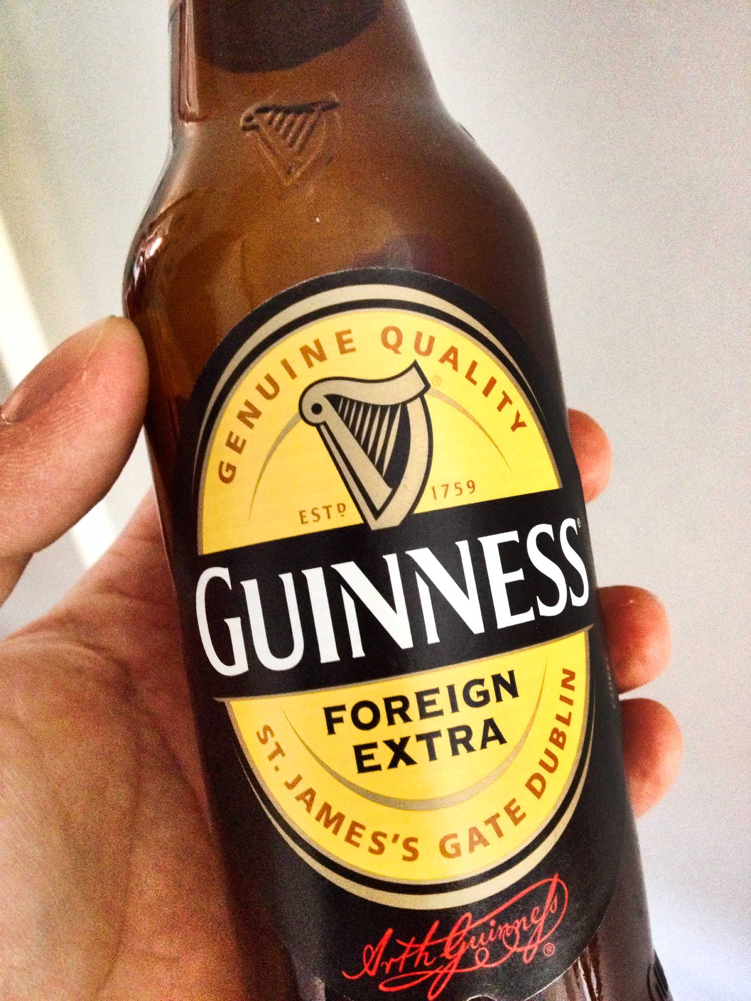 Bottle of Guinness Foreign Extra