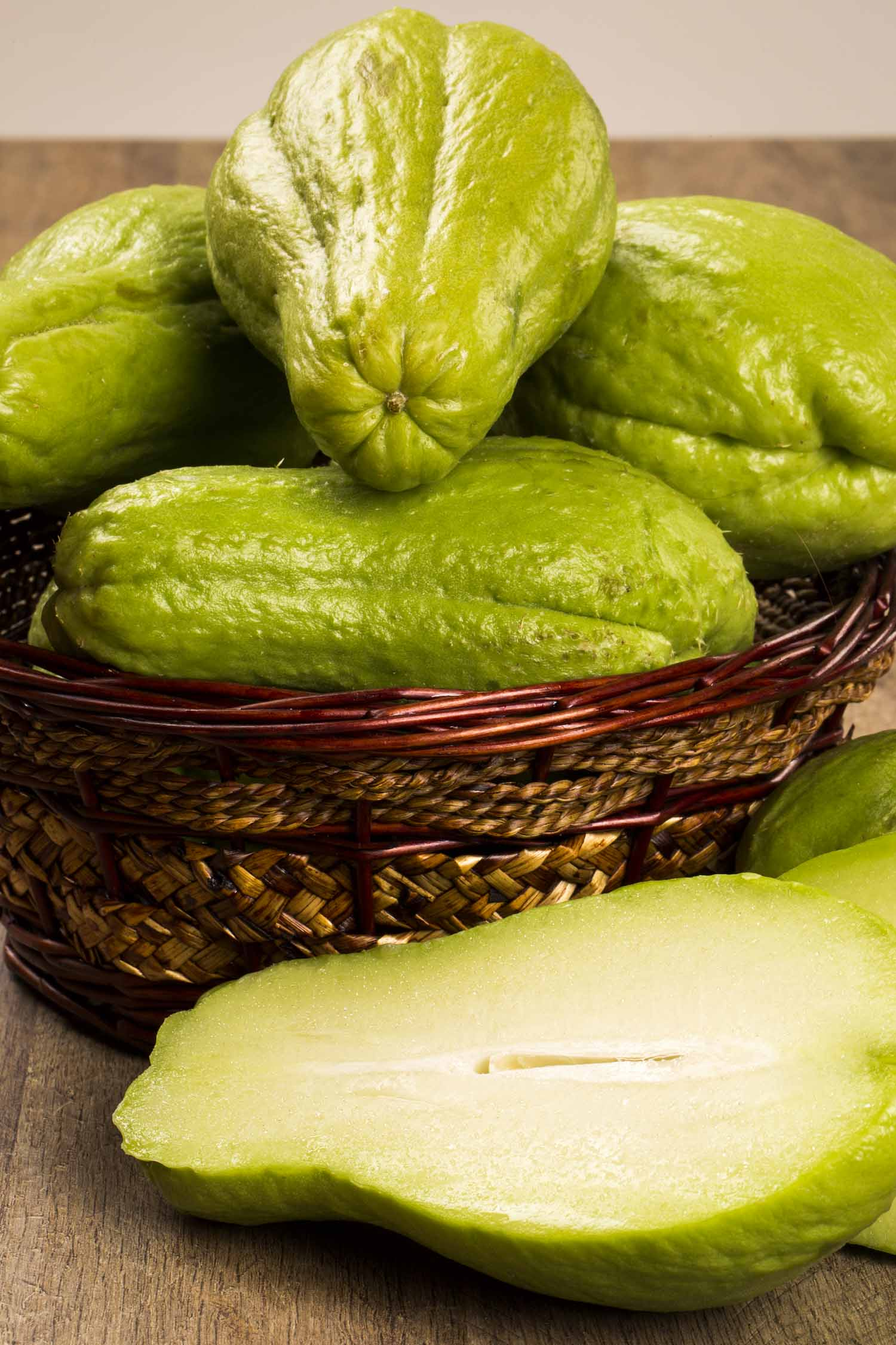 Jamaican chocho or chayote fruit, The chayote (Sechium edule) is a vegetable native to south america. Fresh Vegelable.