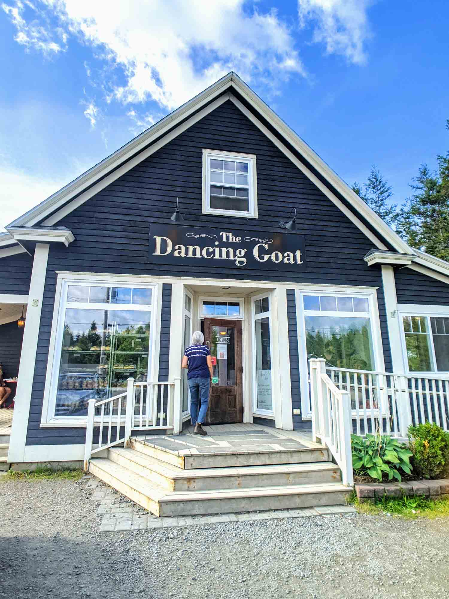 The Dancing Goat bakery exterior in Cape Breton Nova Scotia
