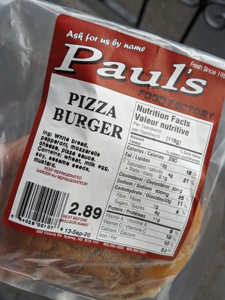 Paul's Pizza Burger