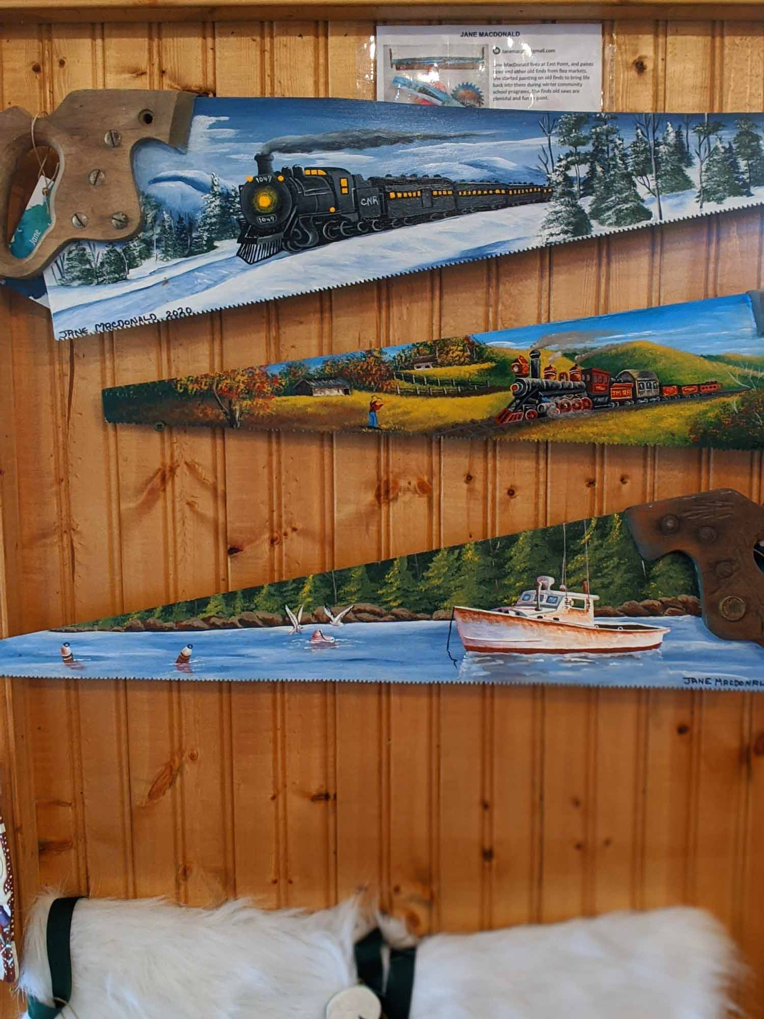 Artisans on Main Souris PEI painted recycled hand saws