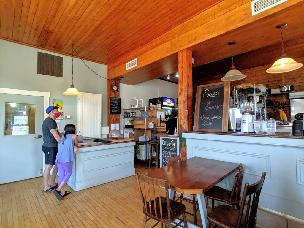 Evergreen Cafe interior Souris PEI