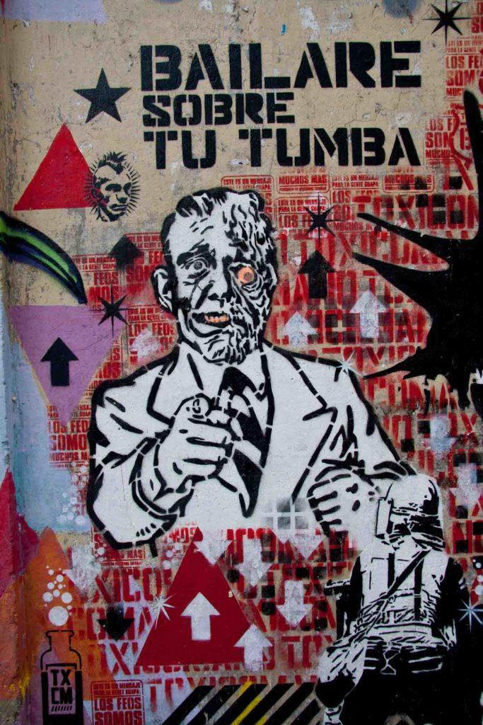 Graffiti art in Bogota Colombia Barilare sobre tu tumba