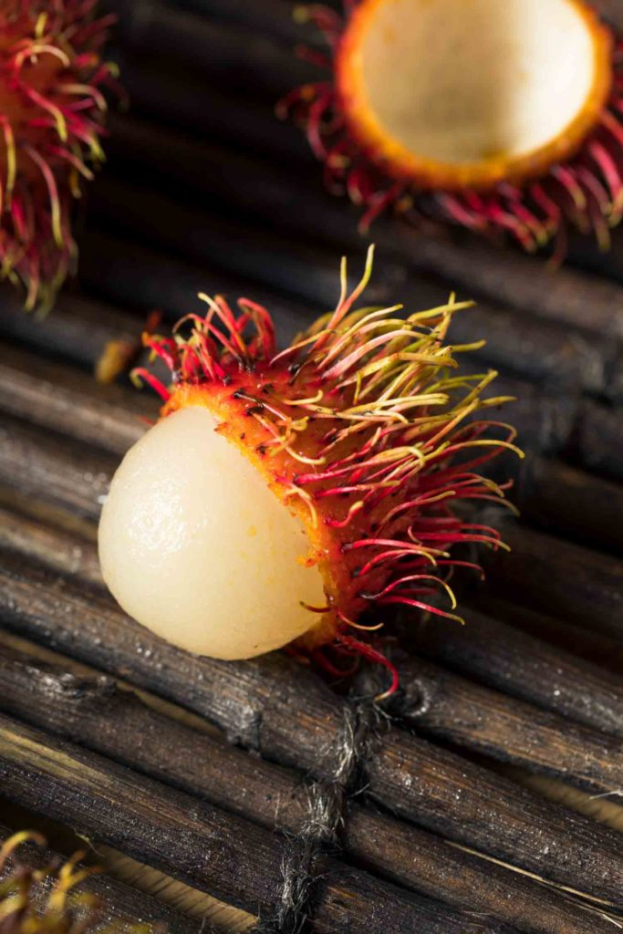 Filipino fruits, Raw Red Organic Rambutan Fruit Ready to Eat