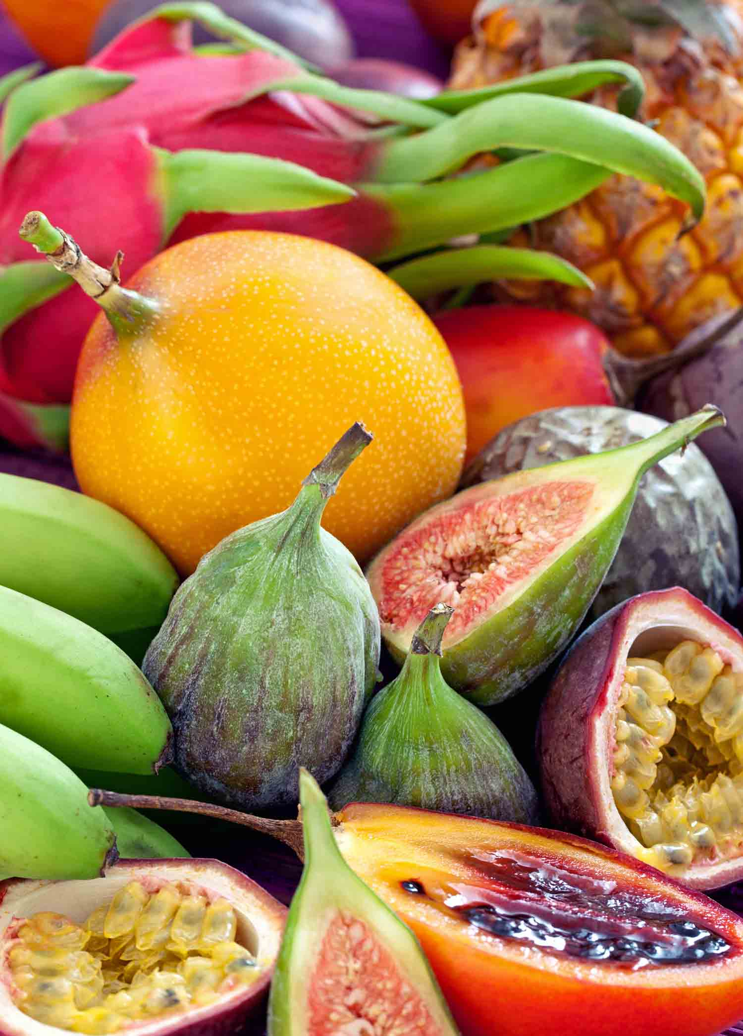 Exotic Filipino fruits in a market