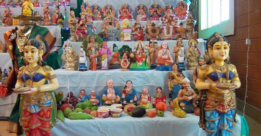 Hindu household, as part of the Navaratri festival. Toys of Navaratri Kolu,