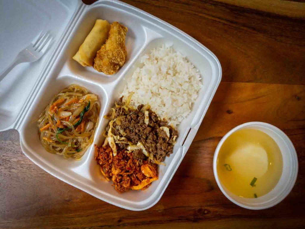 Kim's Korean lunch special in Saint John New Brunswick