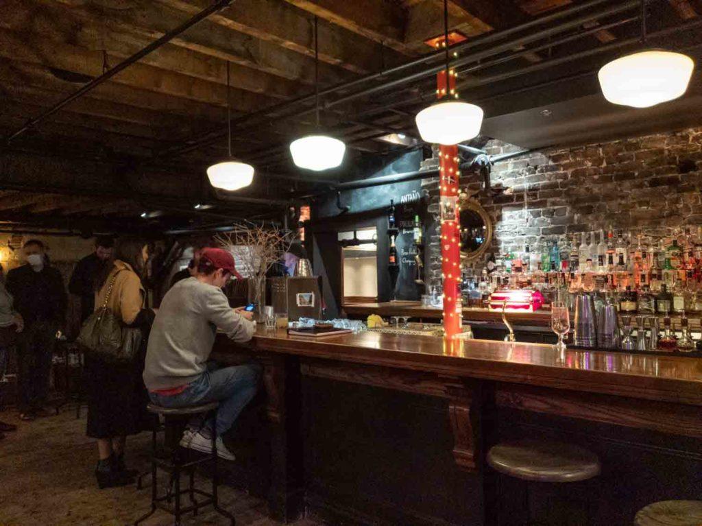 Bar at Port City Royal in Uptown Saint John New Brunswick