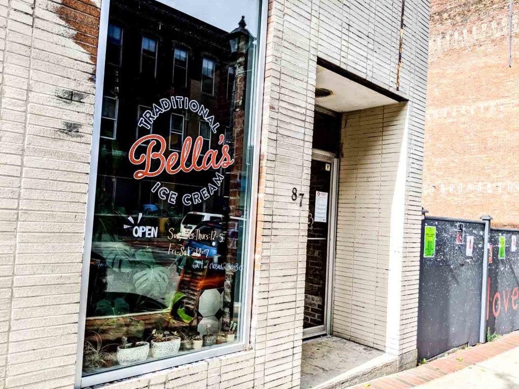 Exterior of Bella's Traditional Ice Cream