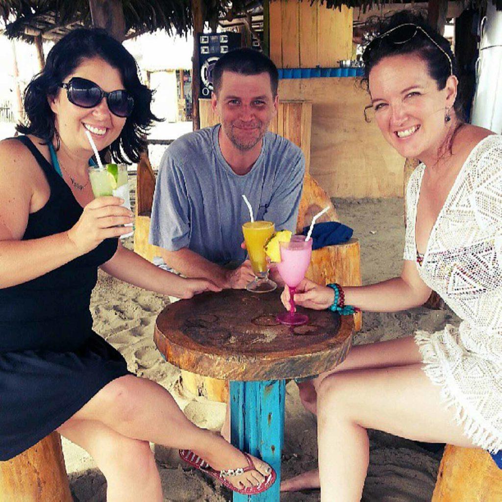 Beach bar in Canoa Ecuador