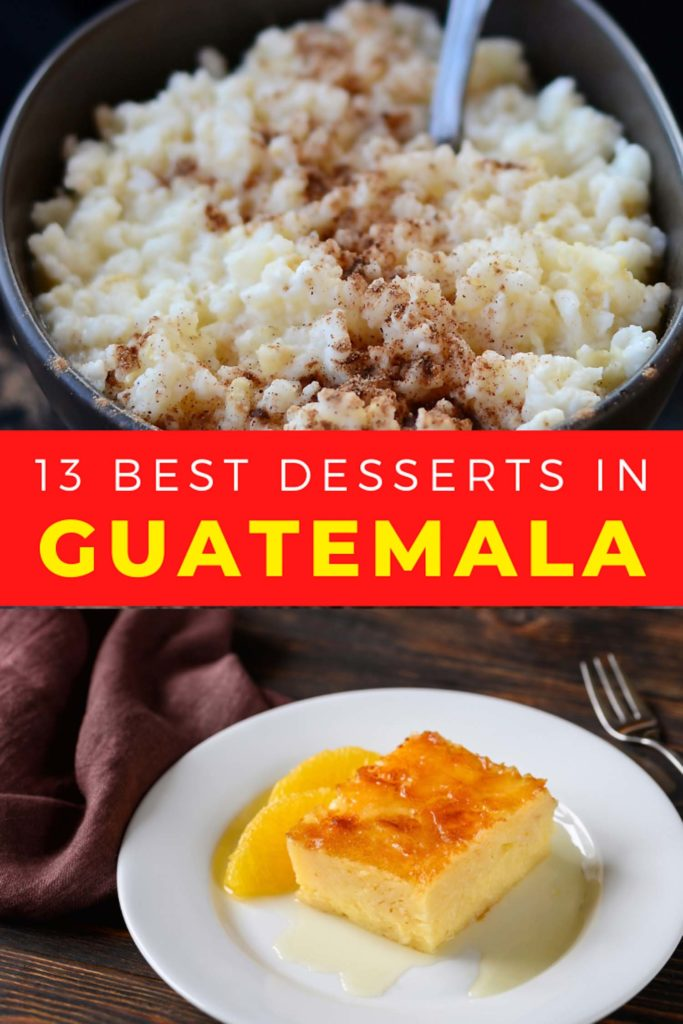 Collage with Guatemalan desserts
