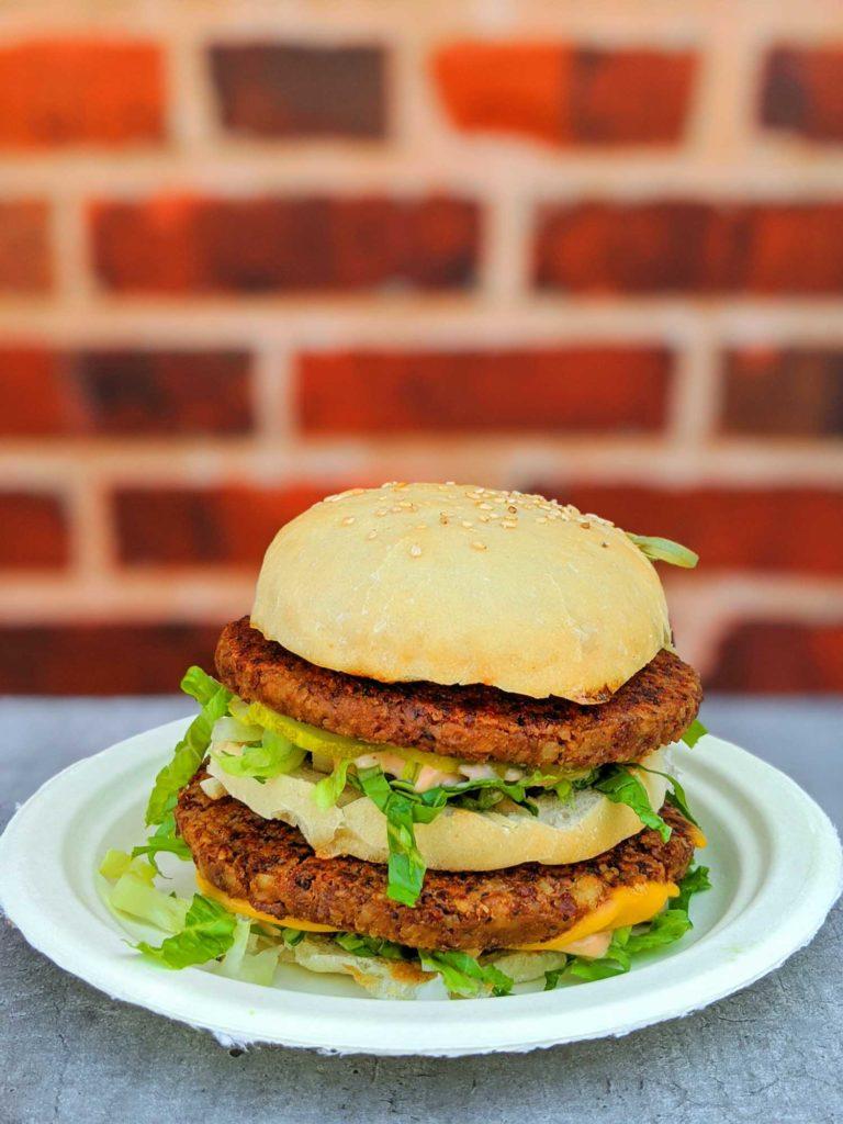 Mooless Mac by Stir it Up Vegan Kitchen Vegan Big Ma