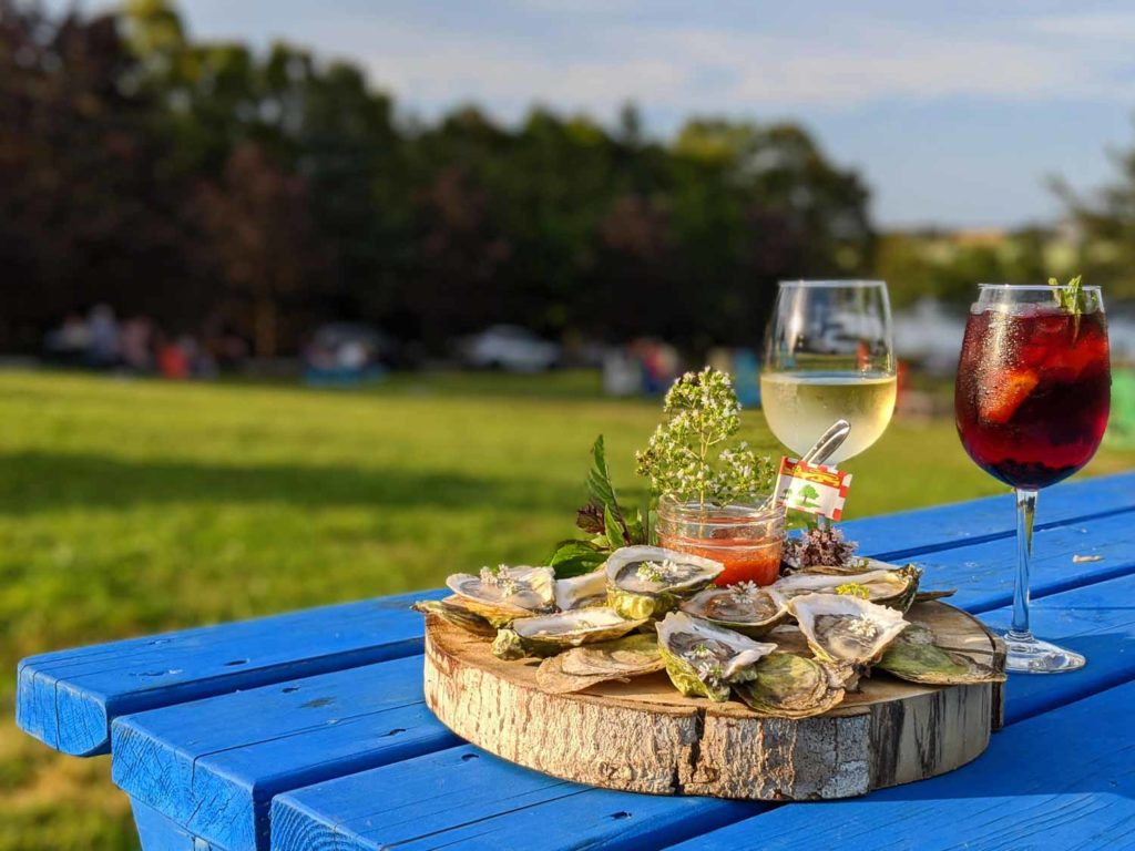 Oysters and Wine at Inn at Bay Fortune in Prince Edward Island