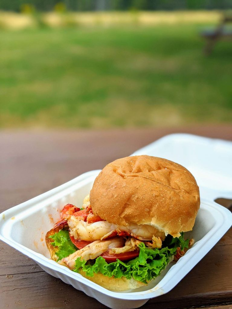 Lin's Take Out Lobster Burger
