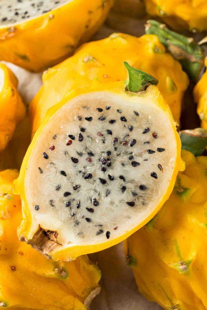 Raw Organic Yellow Ecuadorian Dragonfruit Ready to Eat