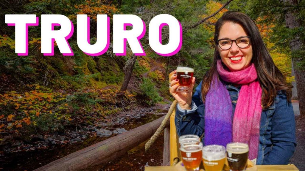 Truro Nova Scotia video thumbnail, Ayngelina drinking beer with Victoria Park in Background