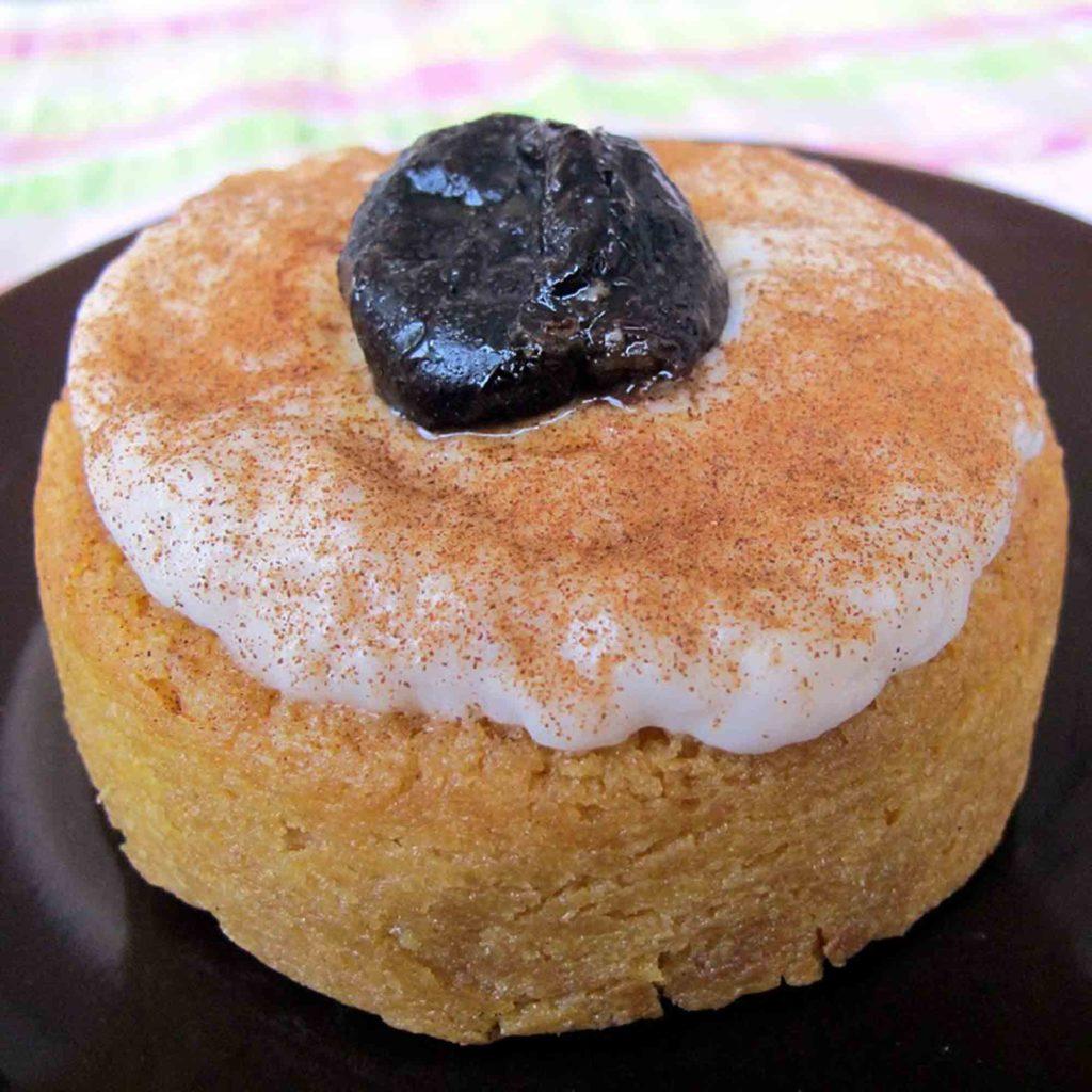 Pio Quino traditional Nicaragua dessert on a black plate