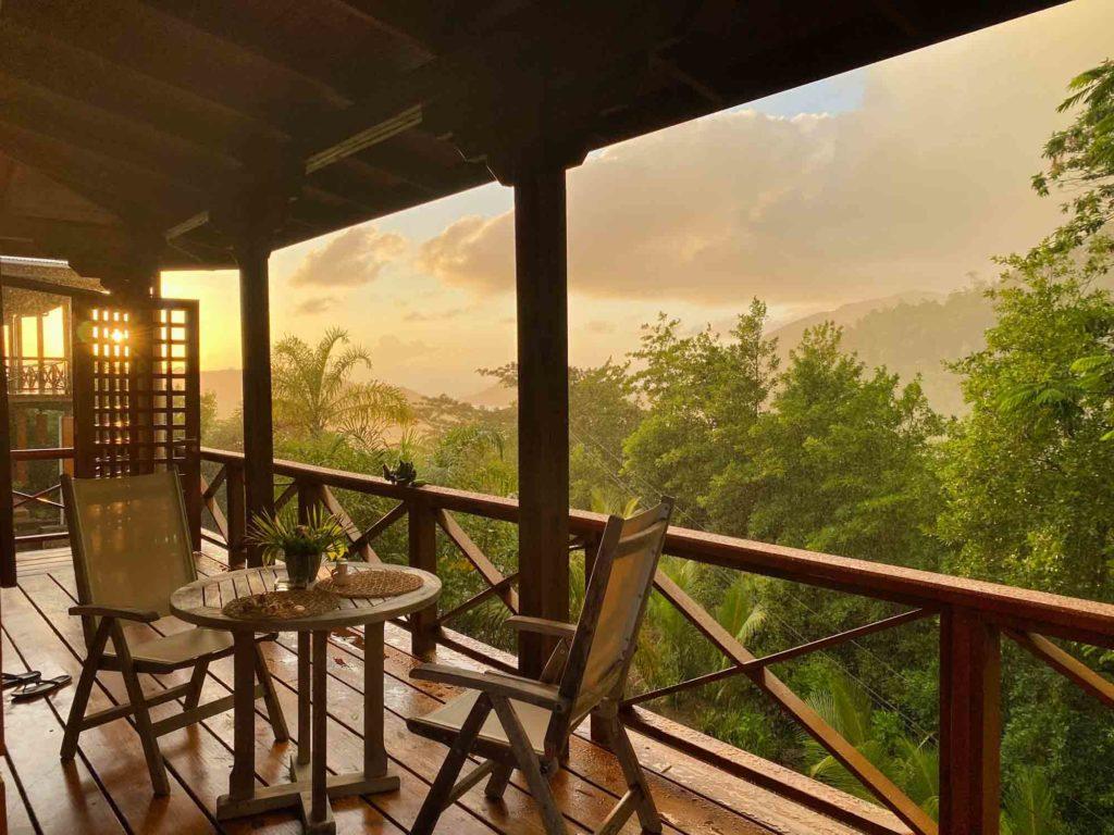 Seychelles restaurant at dawn
