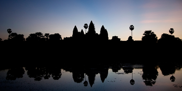 Angkor Wat Silhouette at dawn