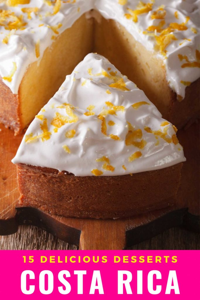 15 delicious desserts Costa Rica pin with tres leches cake