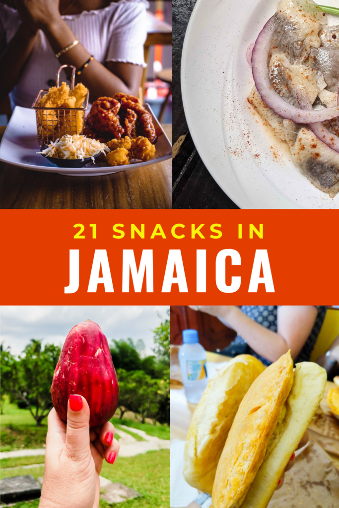 21 Snacks in Jamaica collage of food